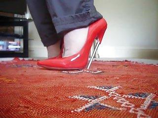 Red 7inch steel heels