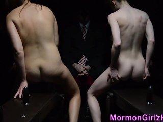Mormon sisters ride toys