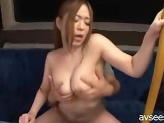 Busty Japanese Sex In The Bus