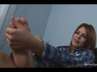 First time feet show