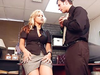 Boss Sarah Lets Him Prove Himself In Her Pussy
