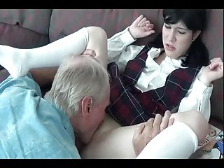 adorable young butt spanked by old dad