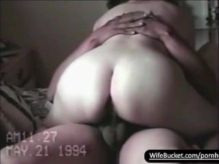 Vintage sextape of chubby wife getting fuck good