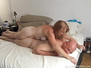 Randy old spunker is super hot fuck and loves cum