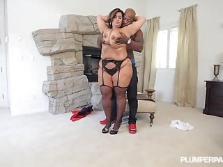 Latina BBW Legend Sofia Rose Fucks and Sucks Big black dick