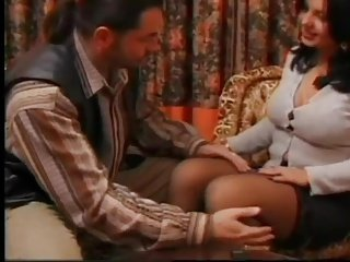 Voluptueus Spanish Hot lady in stockings fucks in hotel