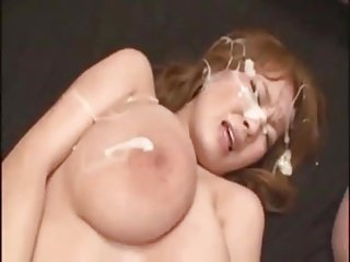 Huge Titted Asian Bukakke Covered
