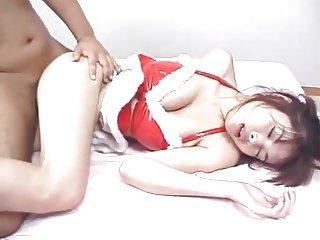 Japanese christmas uniform fuck, uncensored