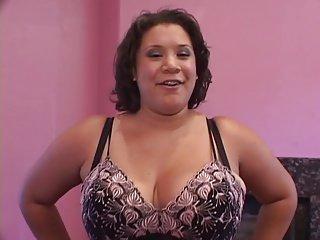 Fat ebony loves a big dick