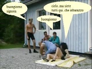 anna moglie italiana gang bang in cantiere