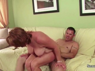 Hot lady Mother Seduce Young Boy to Fuck her