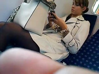 candid pantyhose in train VID 20121002 00008