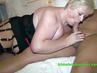 Mature Blonde giving great head