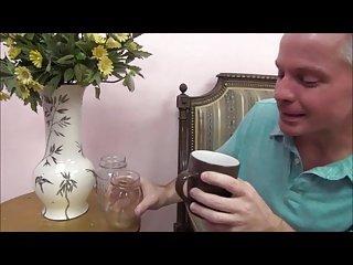 Family Fun Dau9hter drinks the Randy Juice GV00156