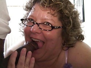 Chubby Grandma Knows How To Suck Black Dick