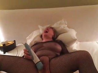 mum in body stocking fucking her cunt