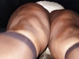 Big Ass Black Granny upskirt
