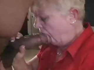 Granny shows her love of Big black dick