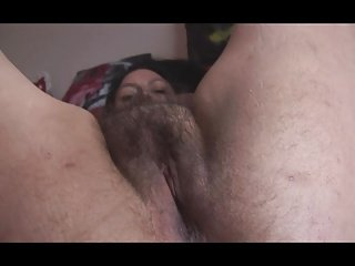 Busty mature English lady with big hairy pussy