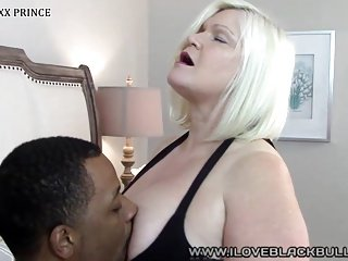 hot blonde gilf getting my big black dick