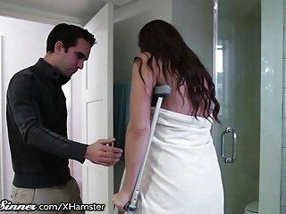 SweetSinner Stepson Helps Mom out of Shower