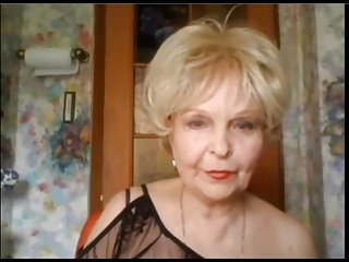 Granny Plays With Her Tits and Her Pussy