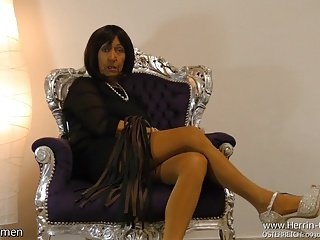 Mature Hot lady Nylon FemDom German Fetish JOI CEI