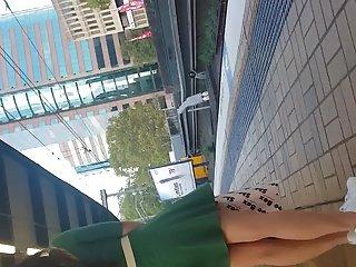 Asian in petite dress