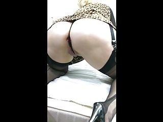 Mature slut Nadine showing big butt,sucks and fucks