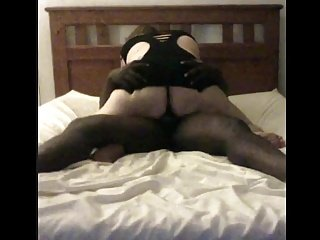 Sexy BBW Mom In Lingerie Sucks And Fucks Young Big black dick