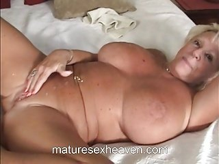Granny Sucks Big White Dick