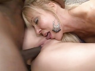 Mother, Daughter and Big black dick