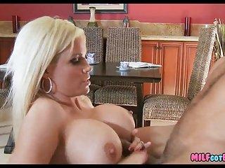Blonde Mom has big jugs