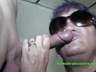 Granny Kim at a bukkake event