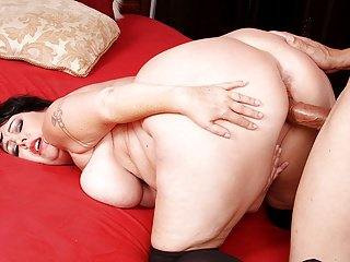 Hot and plump brunette mom takes dick
