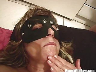 MomsWithBoys Blonde Fatty Mature Bondage Dick Sucking