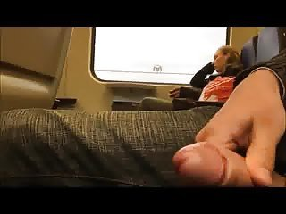 Jerking to girl in train