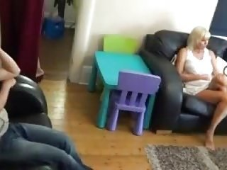 Flashing video mother step son