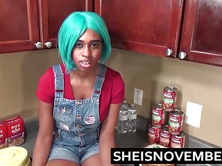Ebony Step Schwester Msnovember in der Küche Hardcore Sex gefickt