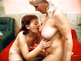 Lesbian Grandmas Kissing And Licking