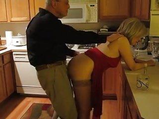 Granny Sheila 6.3 Kitchen Fuck