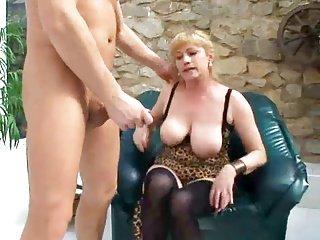 Busty Granny Fucks Young Dick