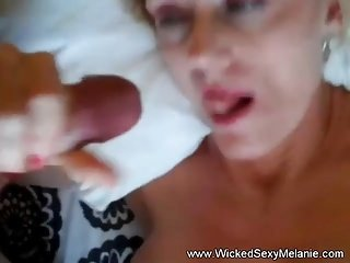 Superior Granny Blow job and Cumshot