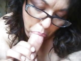 nasty mature bbw throating my hard dick pov close up