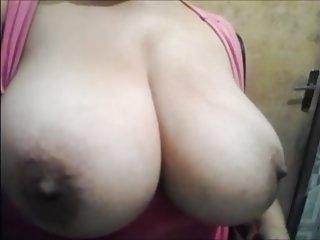 Mom Show His Big Boobs!