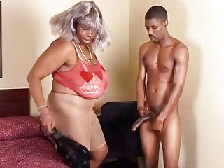 BBW Ebony Granny Takes Young Big Black Dick