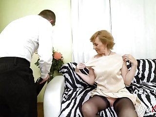 AgedLovE Hot Grandma Fucking with Randy Youngster