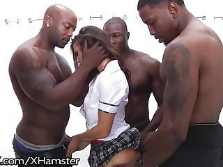 School Girl Keisha Grey Puts In Work Hot Rough Big black dick Gangbang