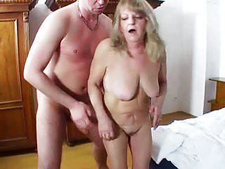 Chubby Granny Share Young Dick With Her Friend