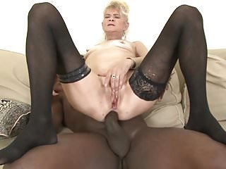 Granny fuck hard in her ass by black guy she gets creampie